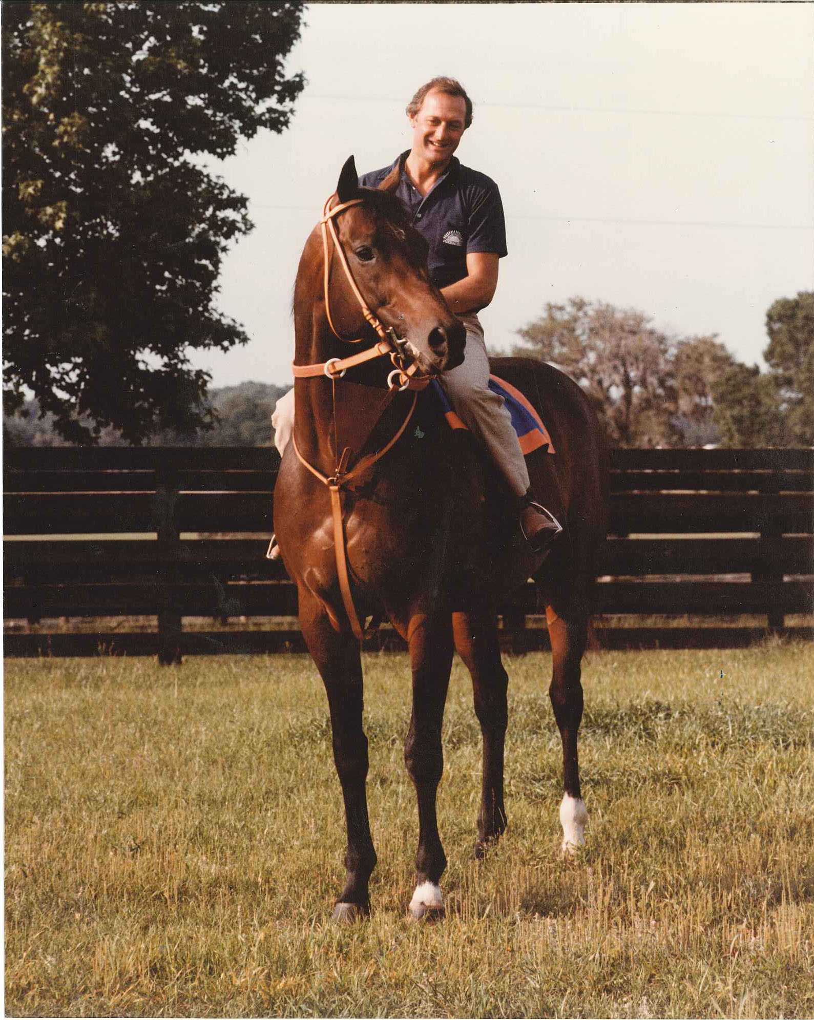 Roger Attfield on horseback (Woodbine Photo)