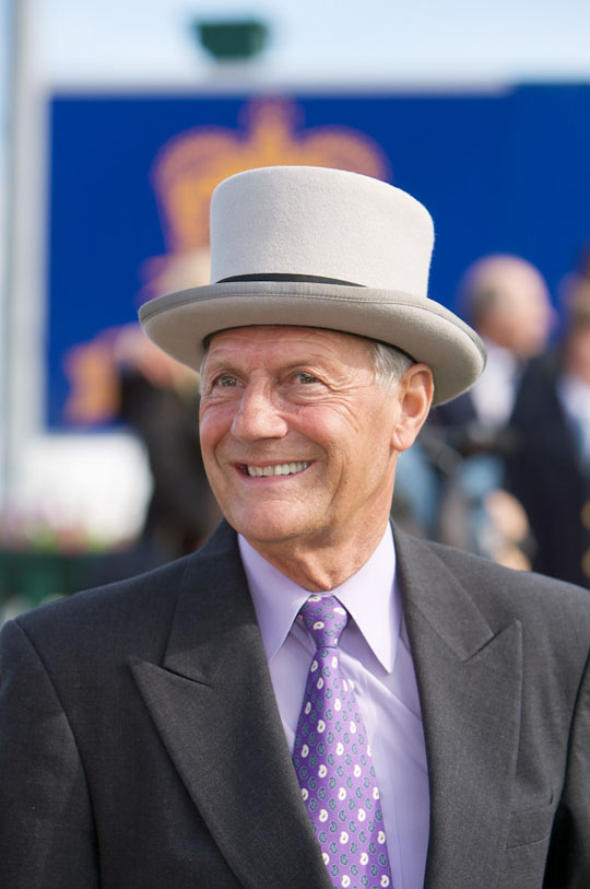 Roger Attfield at Woodbine for the 2008 Queen's Plate (Woodbine Photo)