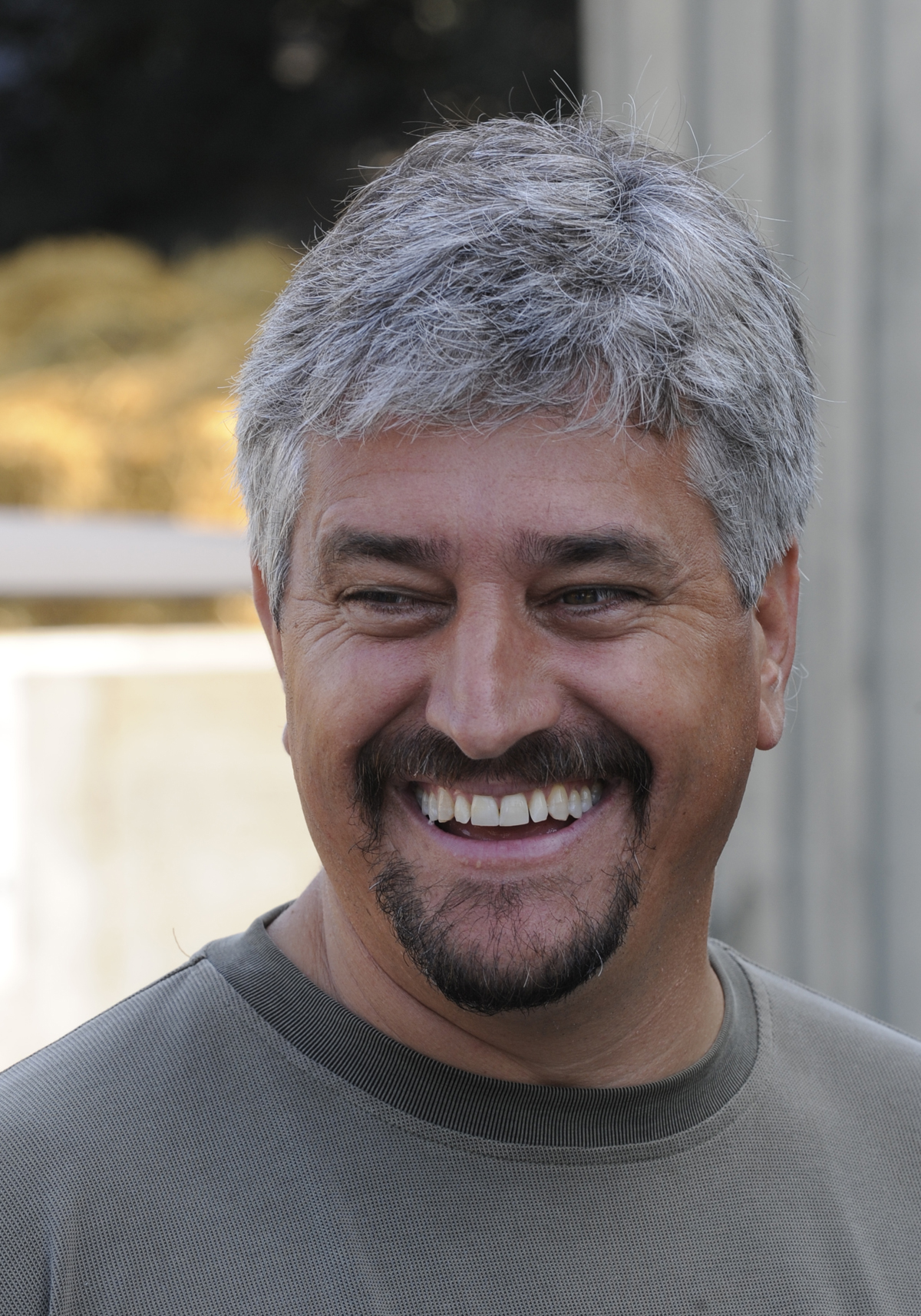 Steve Asmussen after seeing Rachel Alexandra arrive safely back at his barn at the Oklahoma Training Track, August 2009 (Skip Dickstein)