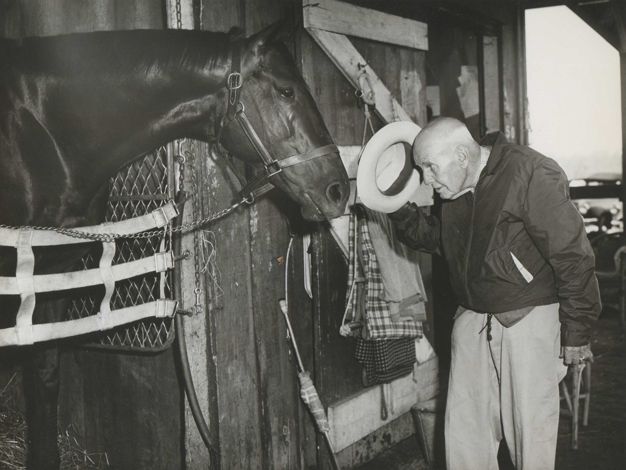 "James ""Sunny Jim"" Fitzsimmons and Bold Ruler (Museum Collection)"