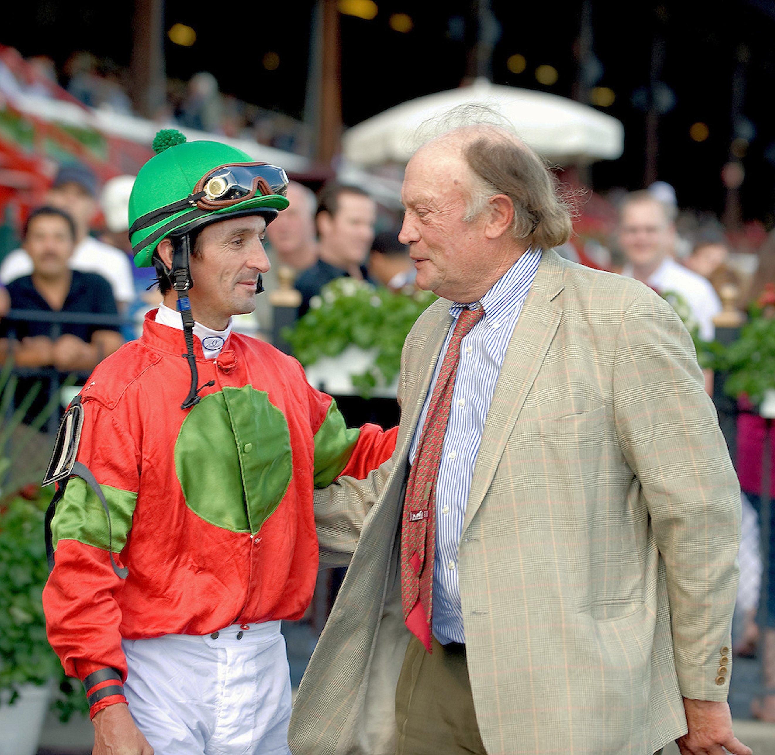 Jockey Robby Albarado and Tom Voss at Saratoga (Tod Marks)
