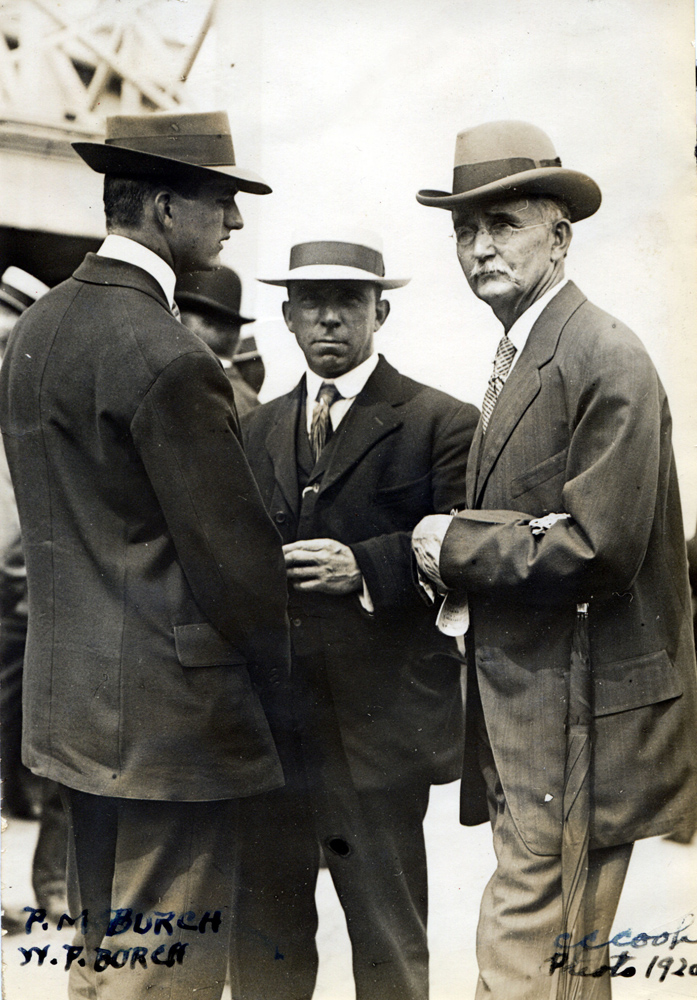 William P. Burch (on right) with his son, Hall of Fame trainer Preston M. Burch, in 1920 (C. C. Cook/Museum Collection)