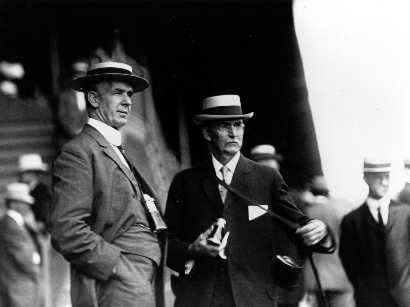 William P. Burch (on right) with an unidentified man (Keeneland Library Cook Collection/Museum Collection)