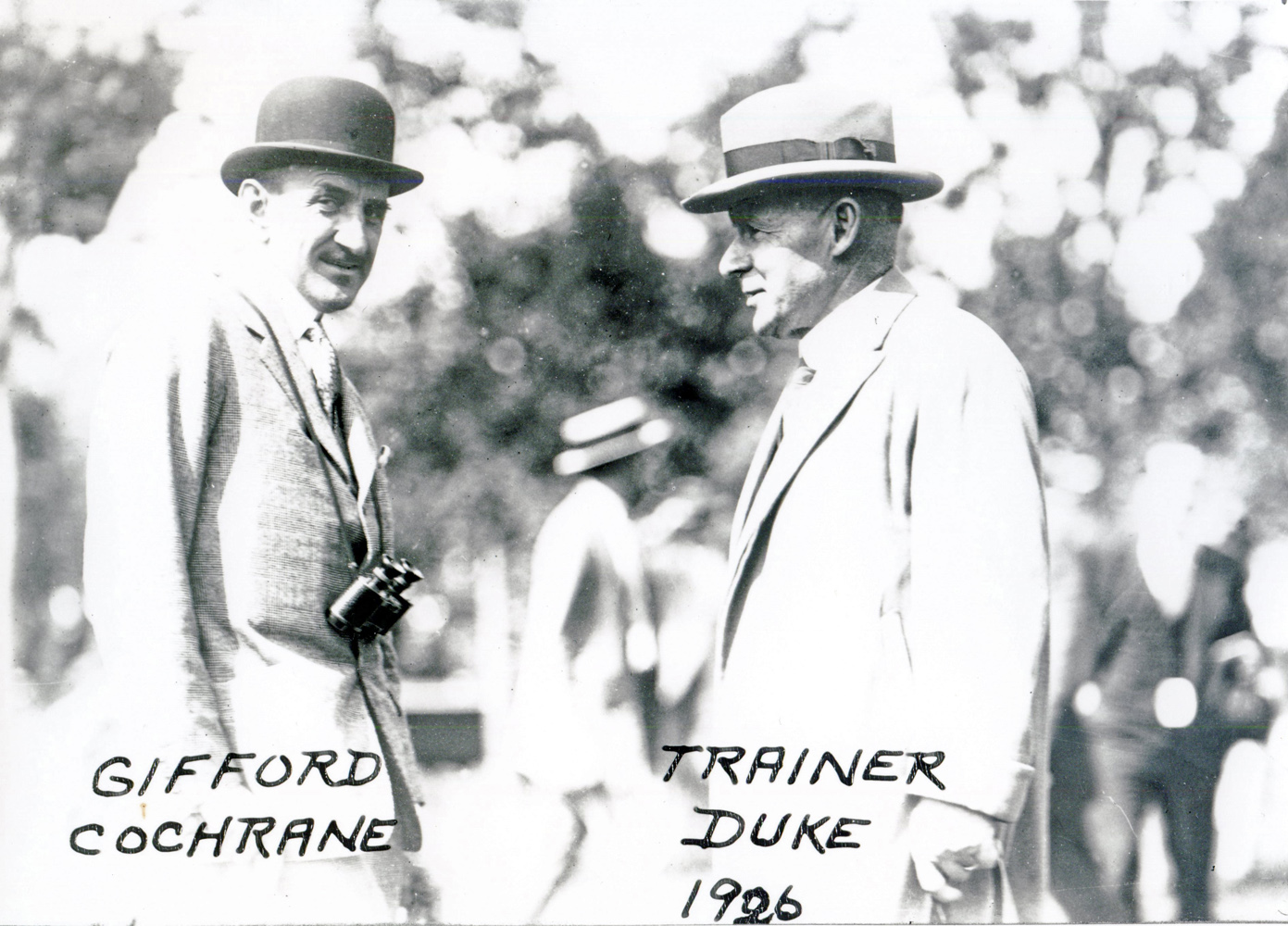 Gifford Cochrane and trainer William Duke (C. C. Cook/Museum Collection)