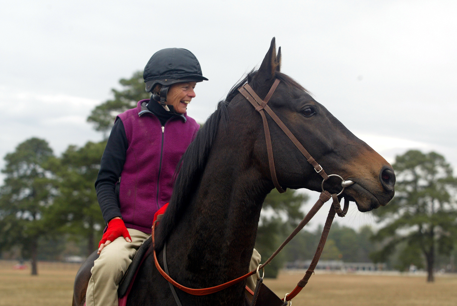 Janet Elliot and Flat Top, a two-time Eclipse Award Champion Steeplechaser (Tod Marks)