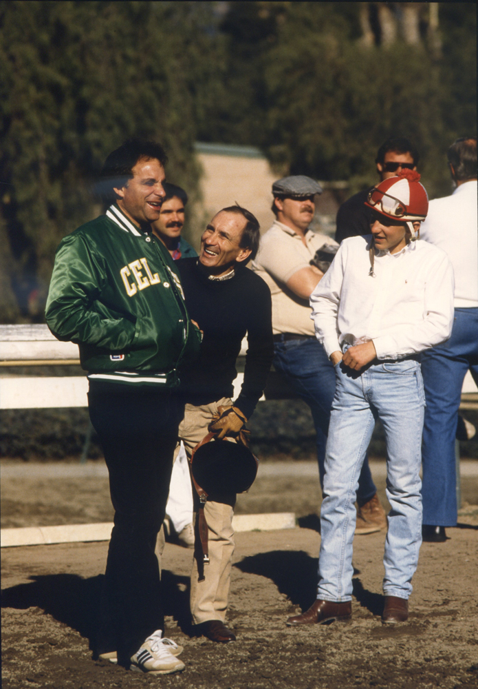 Bobby Frankel with Fernando Toro and Corey Black (Katey Barrett/Museum Collection)
