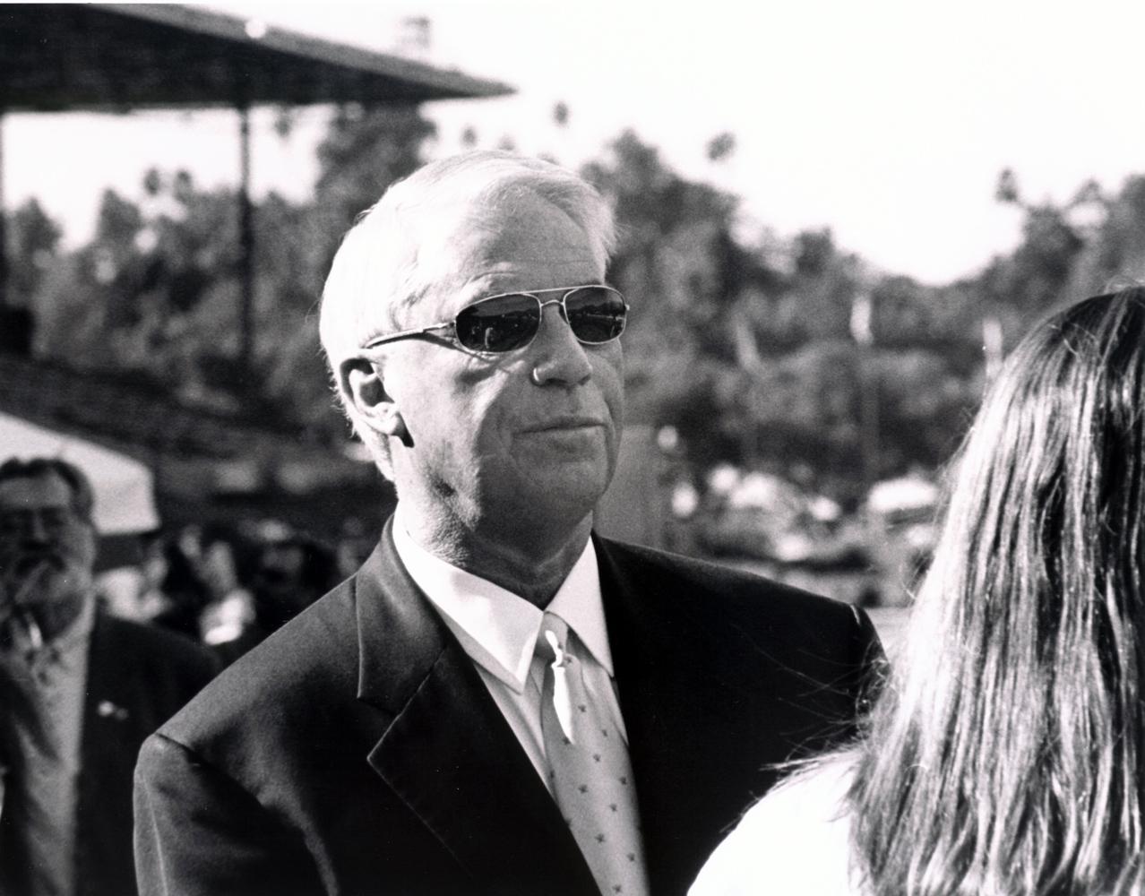 D. Wayne Lukas at the San Miguel Stakes at Santa Anita Park, January 2005 (Bill Mochon/Museum Collection)