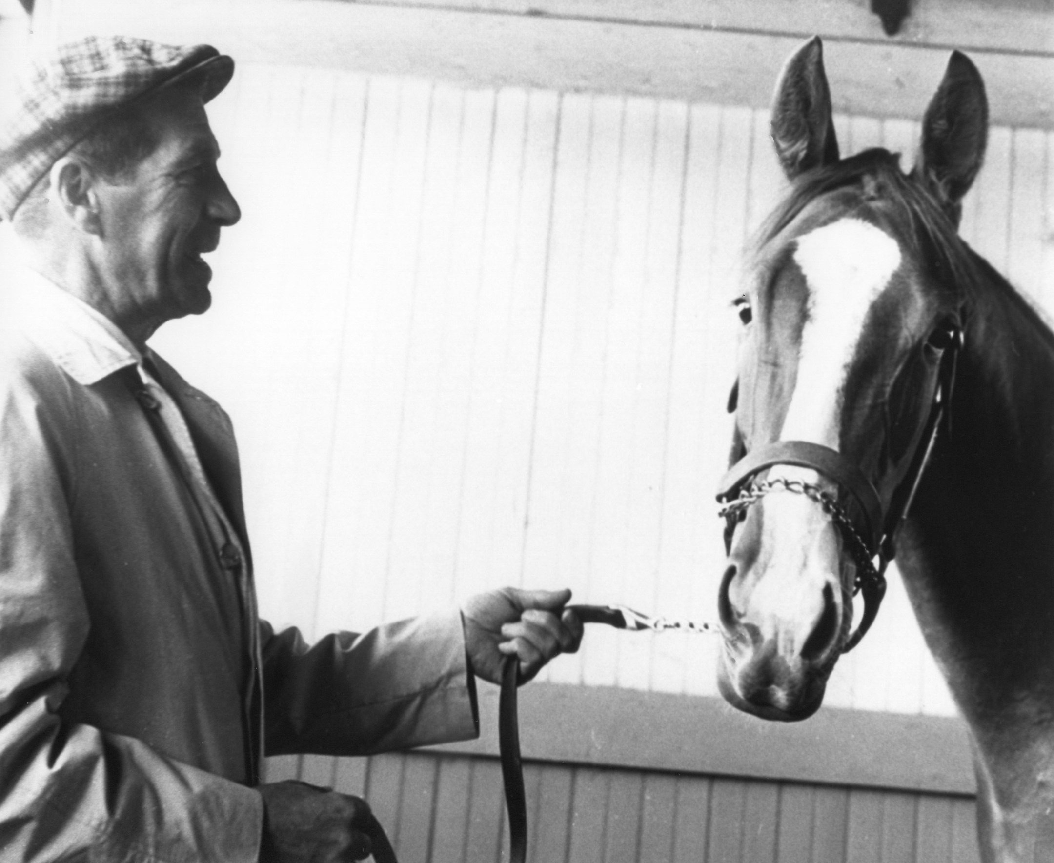 Jim Maloney with Lamb Chop in 1963 (NYRA/Museum Collection)