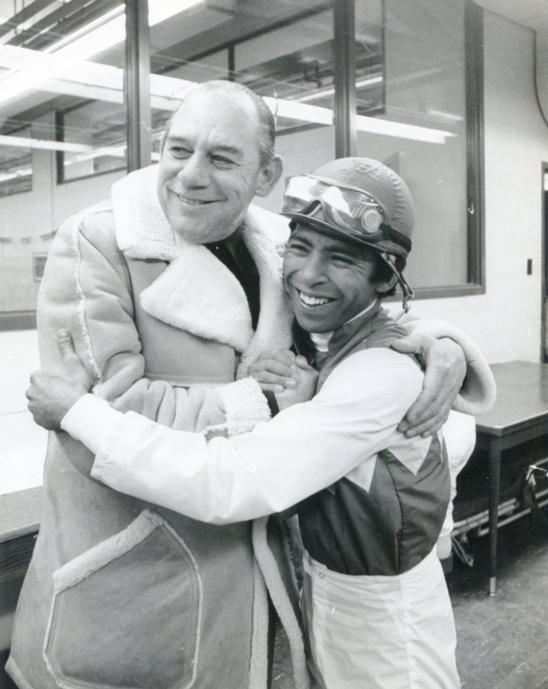 Trainer Frank Martin and jockey Angel Cordero, Jr. (NYRA/Joseph DeMaria /Museum Collection)