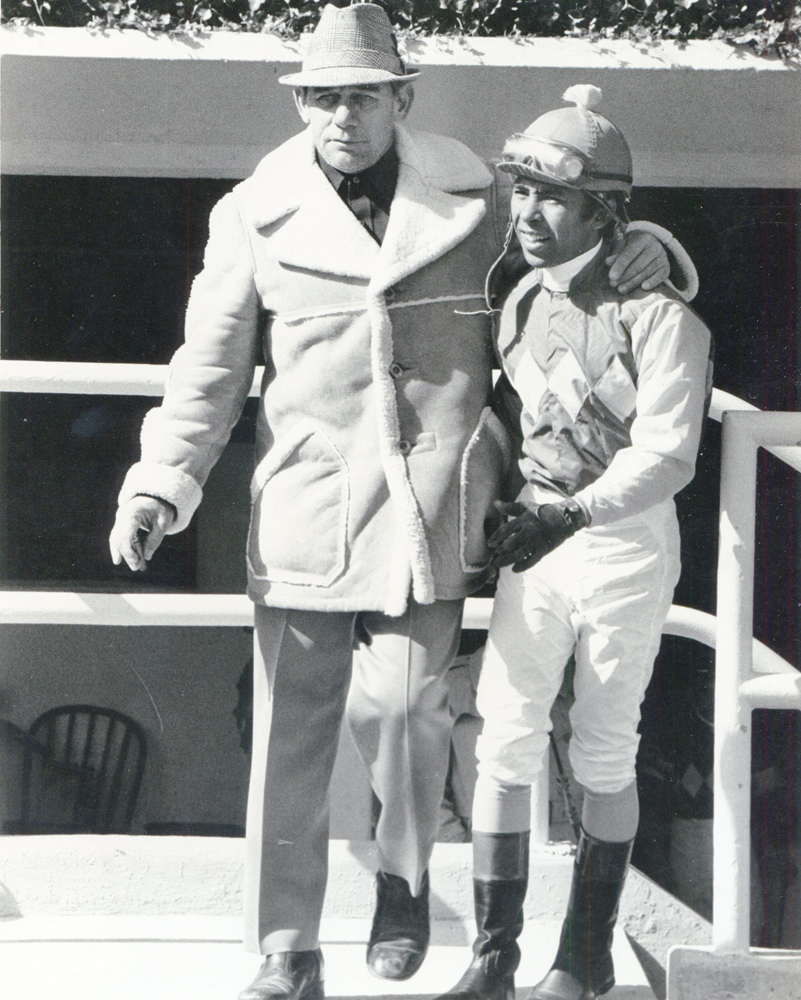 Trainer Frank Martin and jockey Angel Cordero, Jr. (Museum Collection)