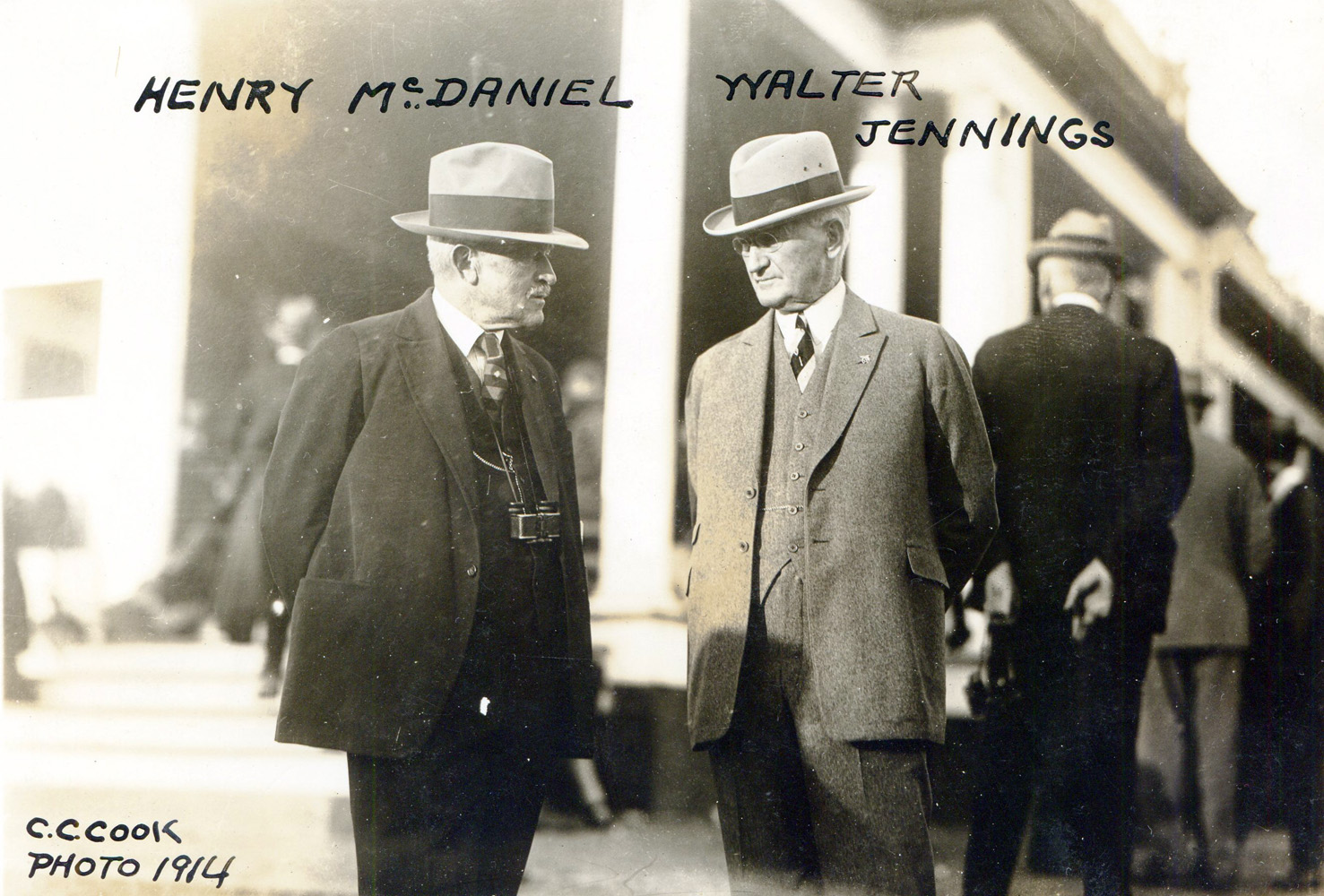 Henry McDaniel and Walter Jennings, 1914 (C. C. Cook/Museum Collection)