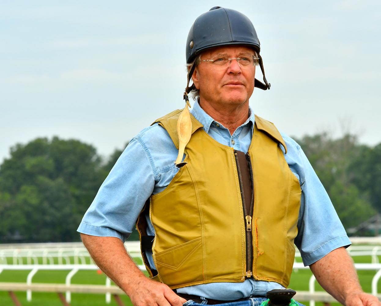 Bill Mott at Saratoga Race Course, August 2018 (Brien Bouyea)