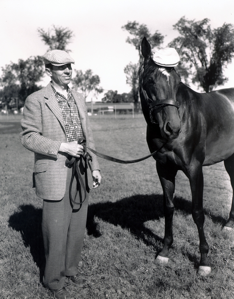 John Nerud and Gallant Man at Saratoga, August 1958 (Keeneland Library Morgan Collection/Museum Collection)