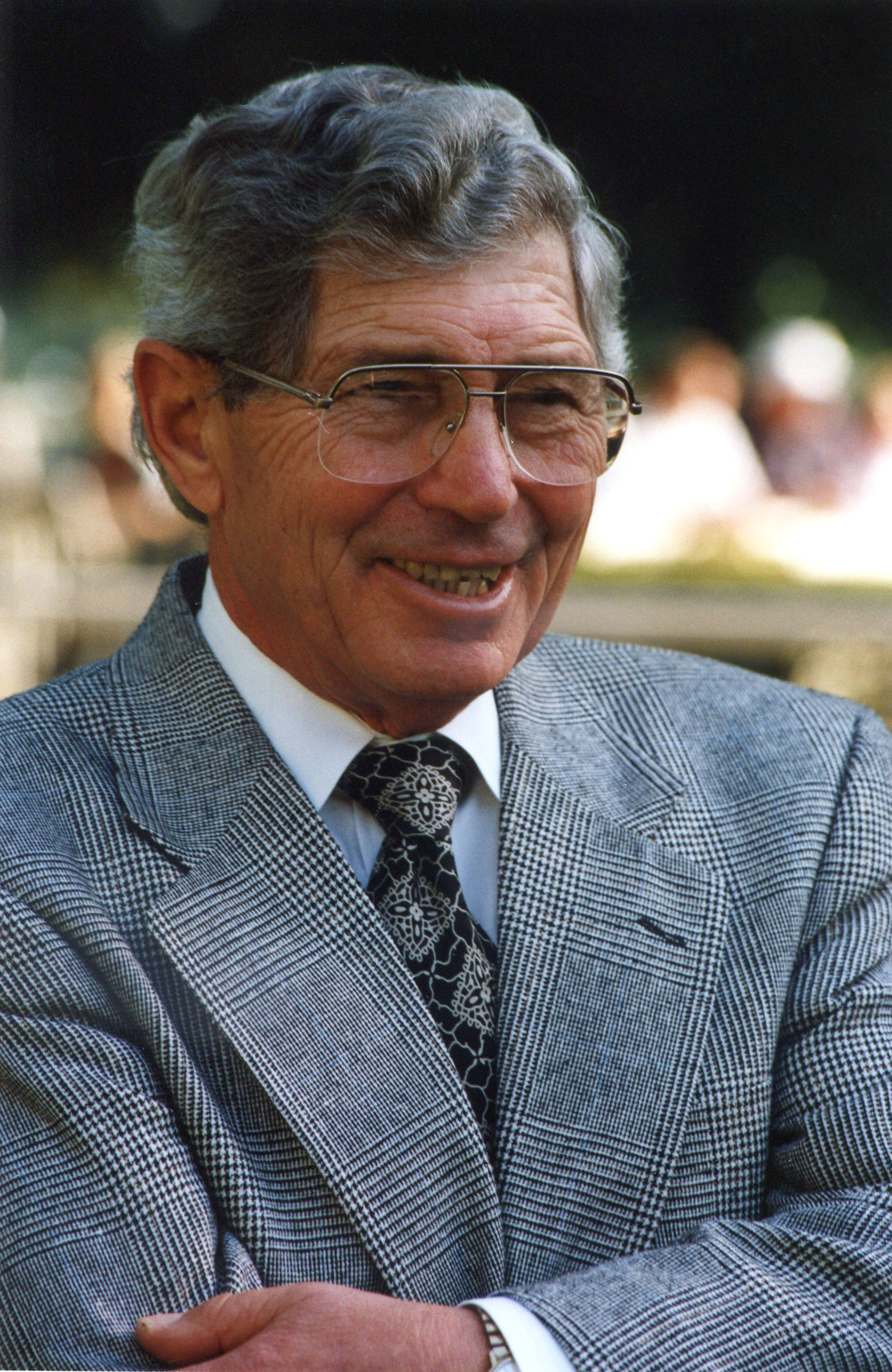 Scotty Schulhofer at Belmont Park, October 1992 (Barbara D. Livingston)