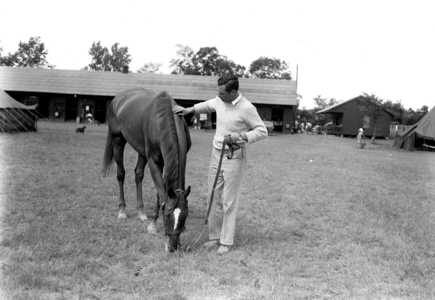 D.M. Smithwick and Neji at Saratoga, August 1958 (Keeneland Library Morgan Collection/Museum Collection)