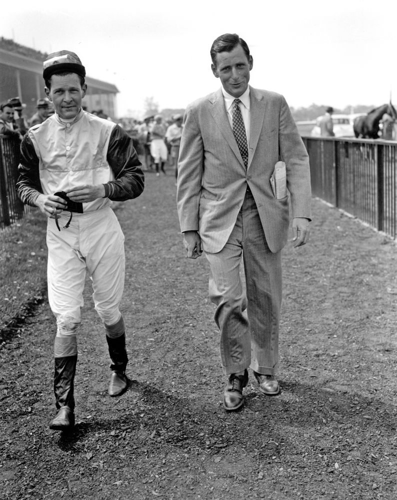 Paddy and Mikey Smithwick at Belmont Park, May 1956 (Keeneland Library Morgan Collection/Museum Collection)