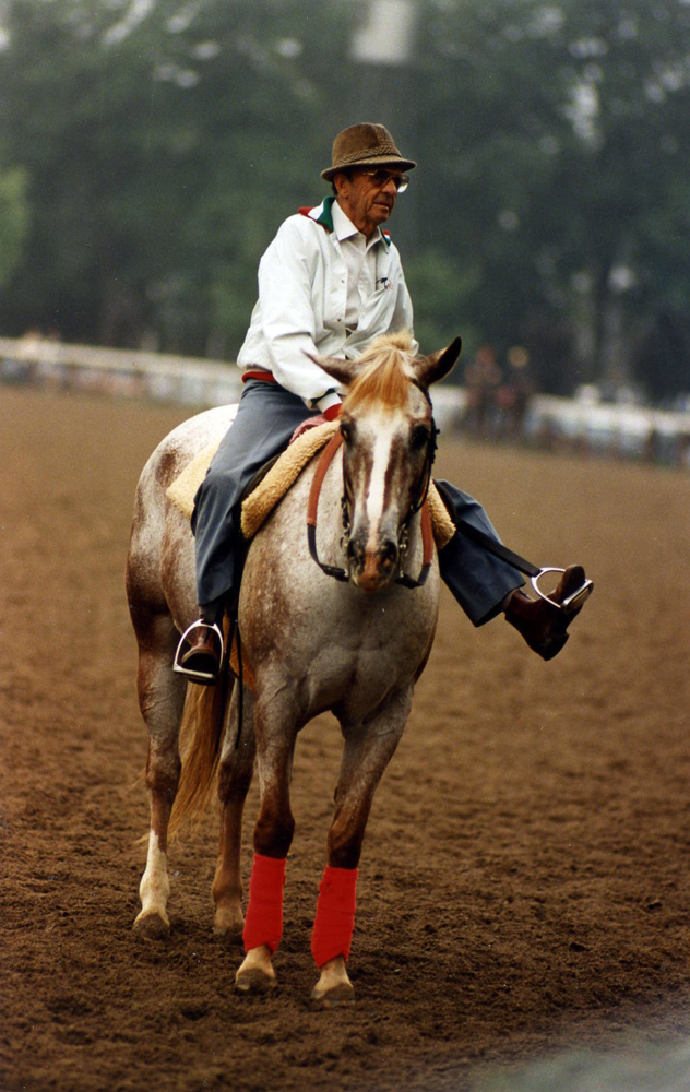 Woody Stephens at Saratoga, August 1987 (Barbara D. Livingston/Museum Collection)