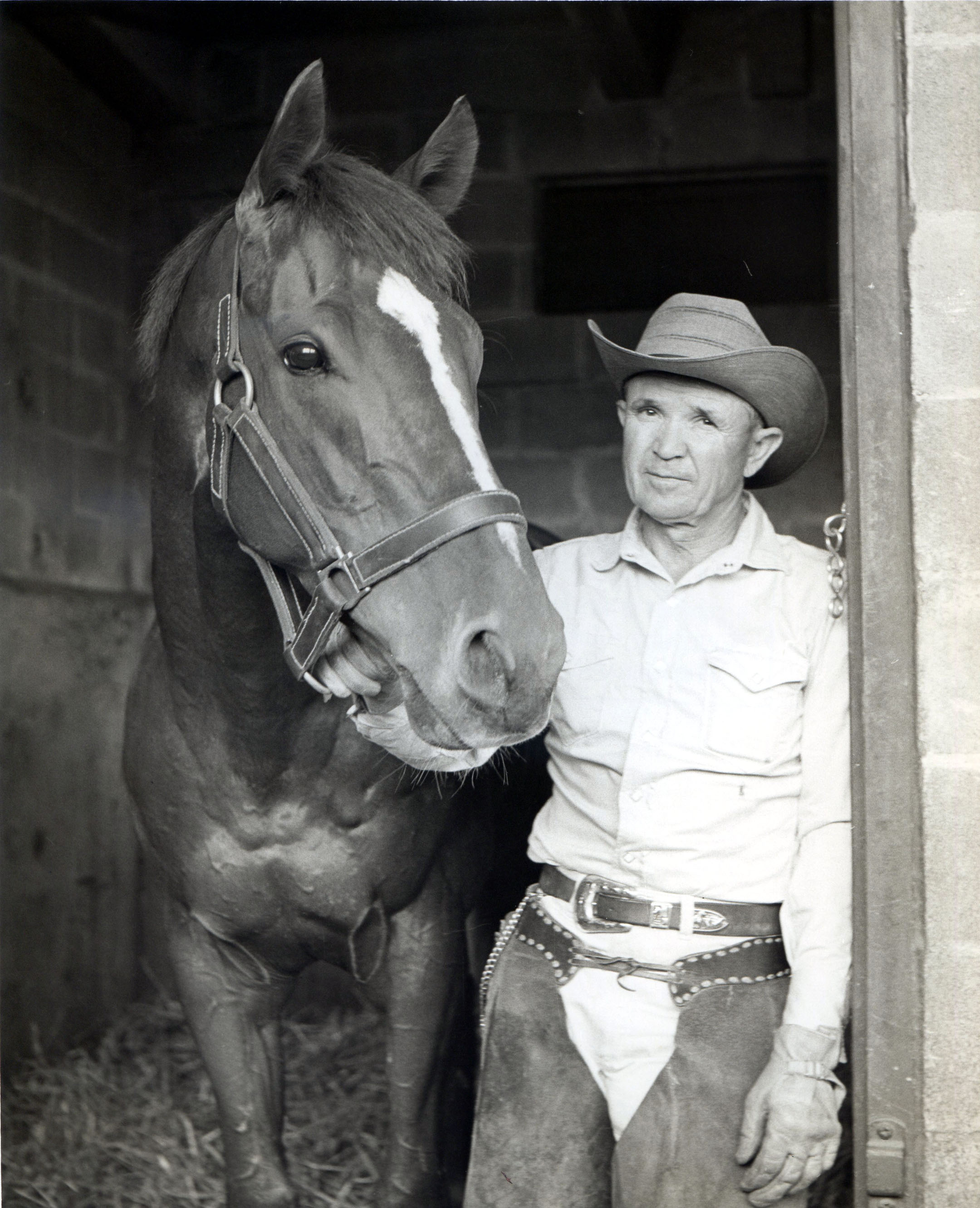 Mesh Tenney and Candy Spots, June 1963 (NYRA/Paul Schafer /Museum Collection)