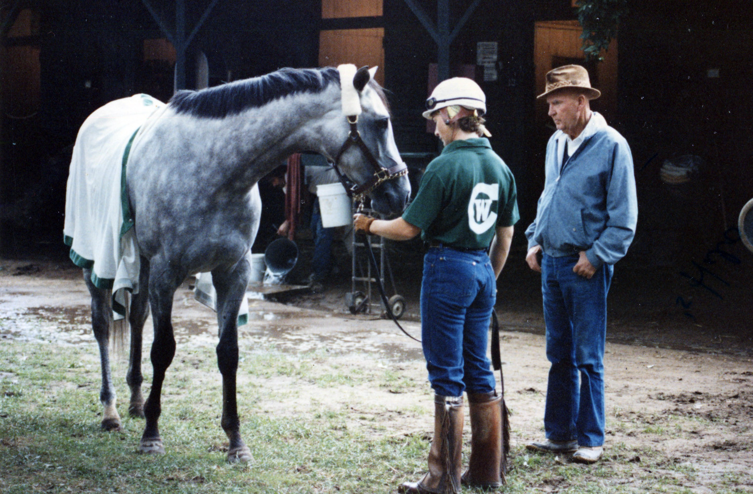 Temperence Hill and Charlie Whittingham at Saratoga in 1980 (Mike Pender/Museum Collection)