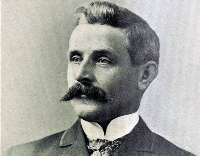 Photograph of trainer Frank McCabe from The American Turf (Keeneland Library Collection)