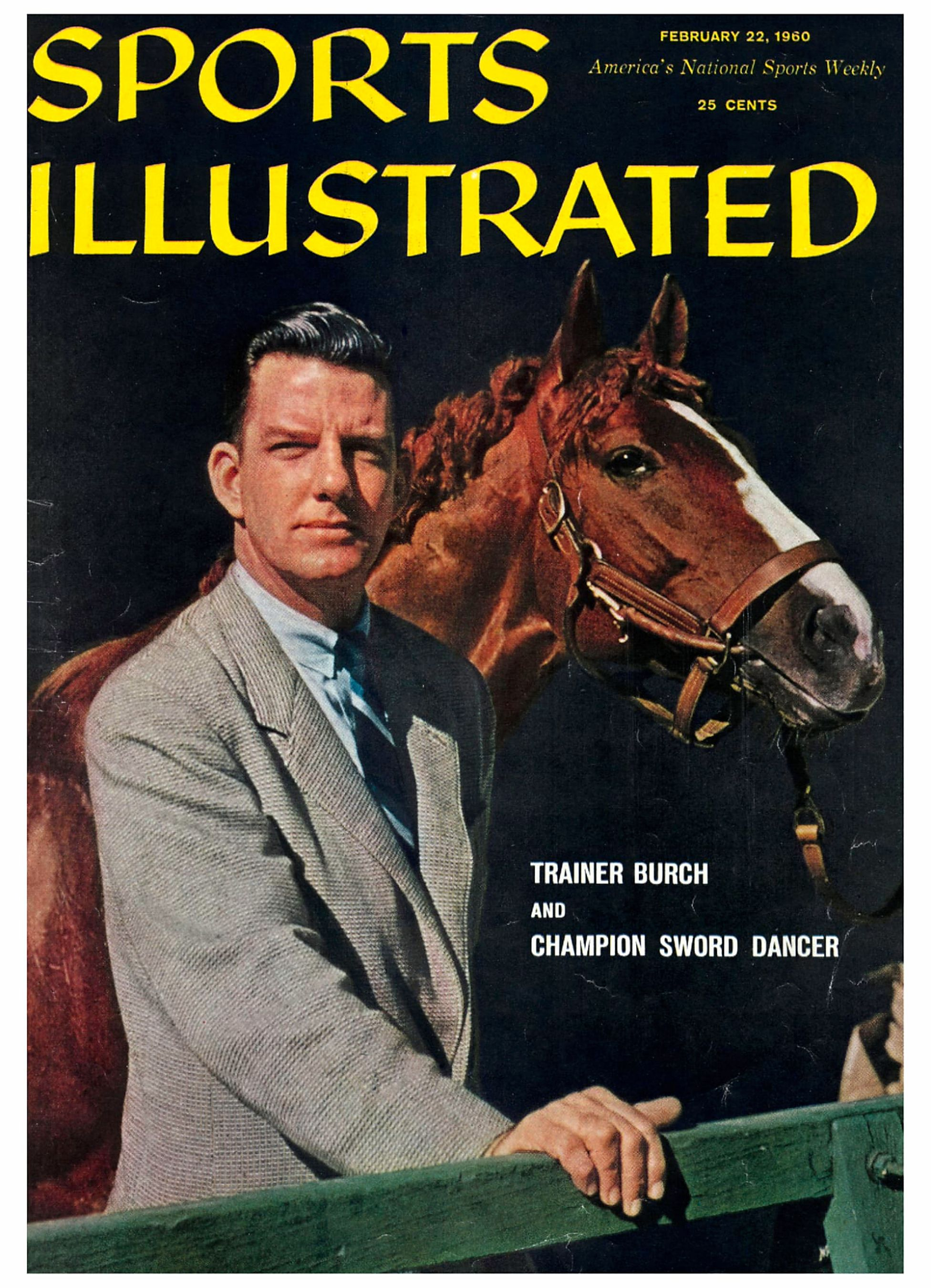 """Elliott Burch and Sword Dancer on the cover of """"Sports Illustrated"""" in 1960 (Sports Illustrated)"""